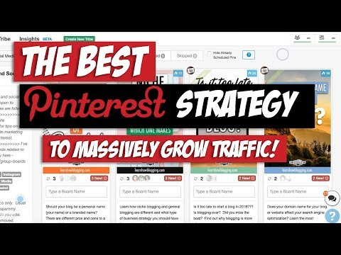 My Pinterest Marketing Strategy for 2018 & 2019 - CRAZY Traffic Growth!!! thumbnail