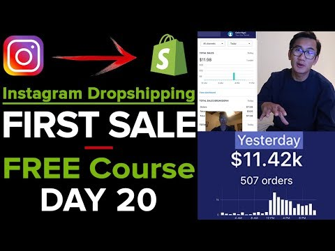 [Free Course 20/21] Instagram Dropshipping: Getting Your FIRST Shopify SALE! - LIVE WALKTHROUGH! thumbnail