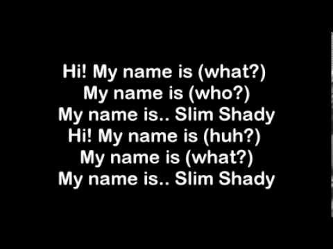 Eminem ; My Name Is Lyrics