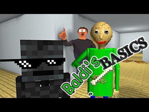 Monster School : BALDIS BASICS CHALLENGE - Minecraft Animation
