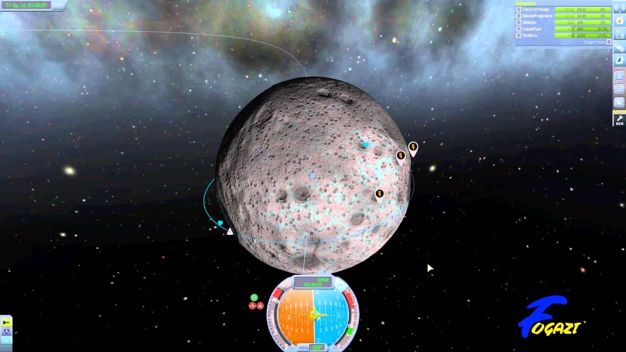 Kerbal Space Program Tutorial 3 - Mun Orbit and Return