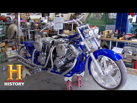 Download Counting Cars: Insanely Cool 4-Engine Motorcycle (Season 3)   History