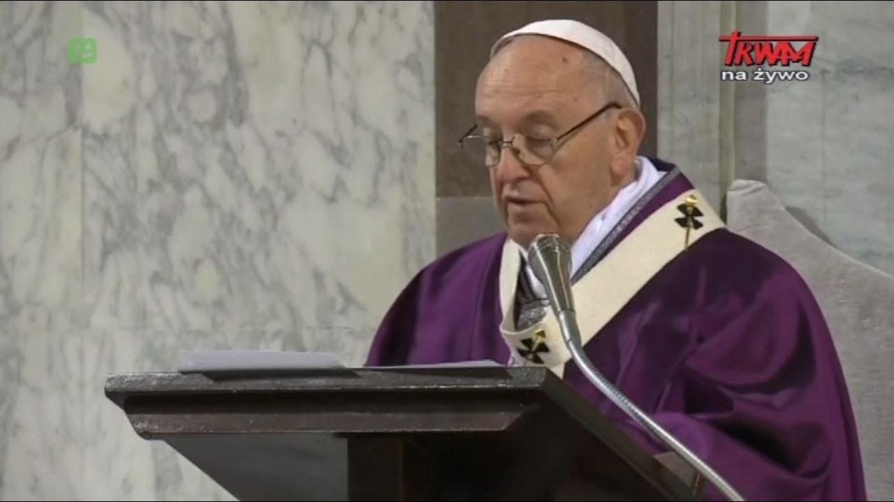 Homilia papieża Franciszka wygłoszona podczas liturgii Środy Popielcowej