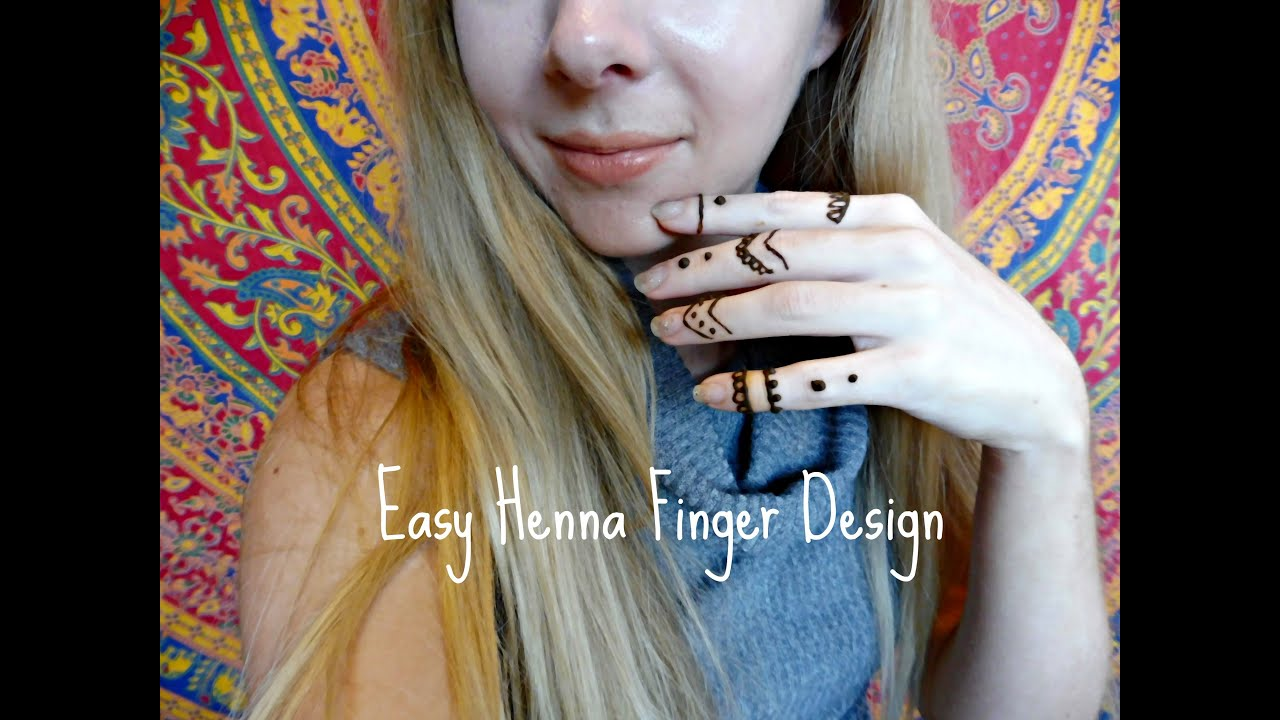 Diy easy henna finger design a girls world hair beauty youtube solutioingenieria Gallery