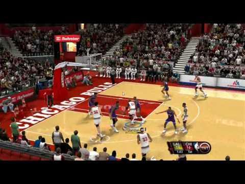 NBA 2k10 PC Gameplay 1991-92 Season Mod by aloncho11 (Lakers @ Bulls)