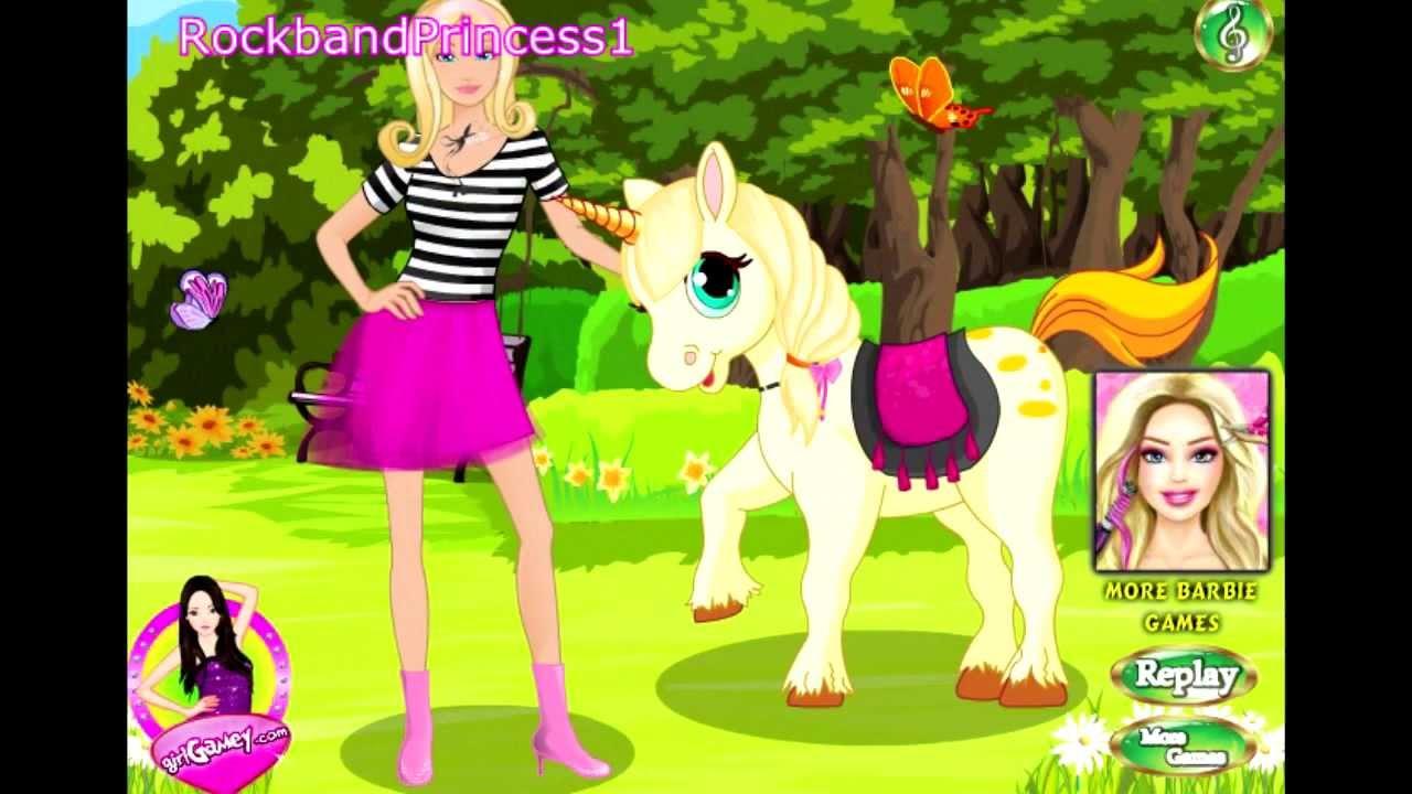 Barbie Online Games Barbie Cartoon Games Caring Barbie