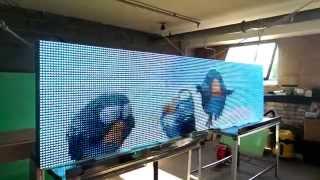 Цветное видео-табло, видеоэкран для наружной рекламы 320х80(Купить цветной мультимедийный экран для рекламы в Минске. Полноцветное наружное табло заказать по отличны..., 2014-09-16T20:07:59.000Z)