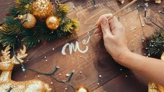 Female Hand Writes the Merry Christmas Inscription | Stock Footage - Videohive