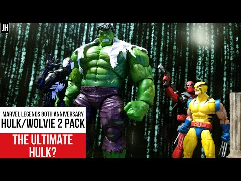 Marvel Legends 2019 80th Hulk & Wolverine Figures! Posing! Scale! THE BEST HULK? Gamma Toy Jawning!