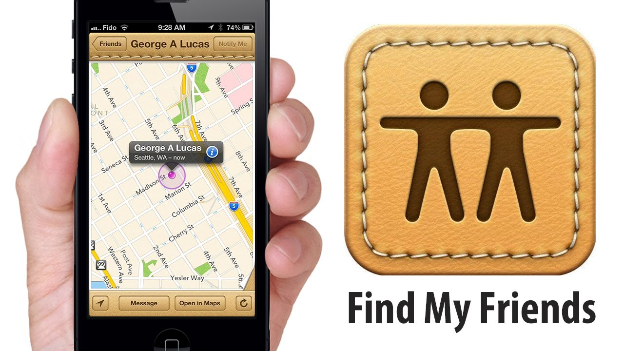 How to locate find my friends app on iphone