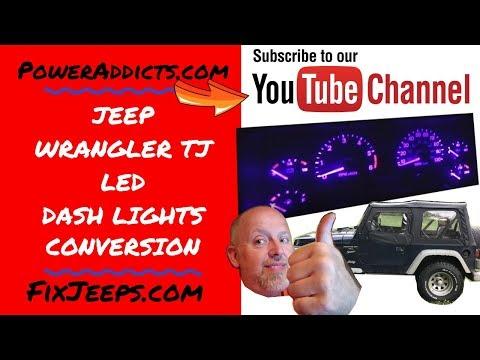 Jeep Wrangler TJ - LED Dashlight Conversion. Cheap And Easy
