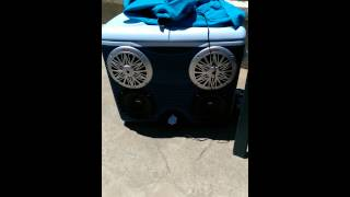 Stereo Cooler Ice Chest Stereo Pyle