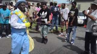 """If Yo Foot Aint Hurting Then Yo Feet Aint Working."" Single Ladies & Men annual Second Line."