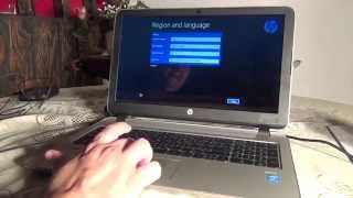 Setting Up A Brand New HP Laptop For The First Time August 2015 Part 1