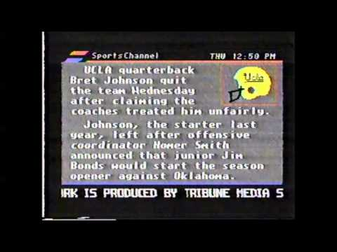 Sports Plus Network on SportsChannel 8/23/90 - Part 1