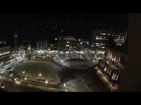 Copley Square time lapse from Fairmont Copley Plaza - 2/17/17