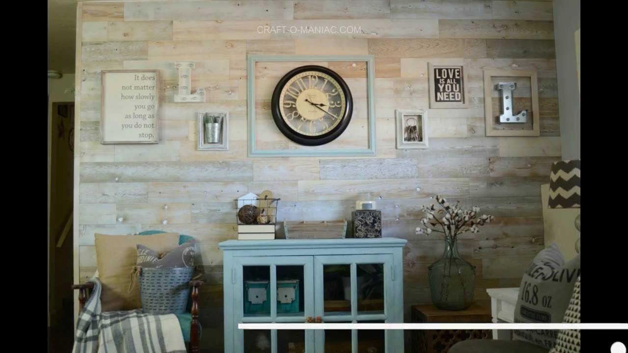 Diy Peel And Stick Wood Planked Wall Youtube