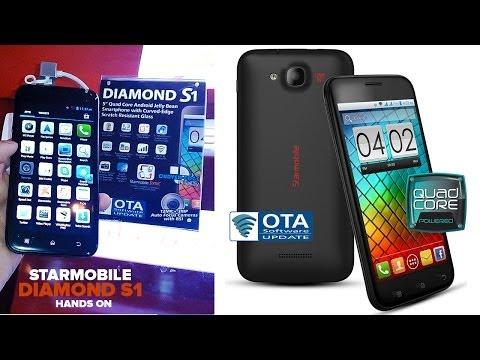 Starmobile Diamond S1 Hands-On , 1.3GHz Quad Core, Curve Edge, 12MP + 3MP Camera