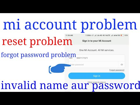 Mi account error sign in and reset your phone and sign out problem