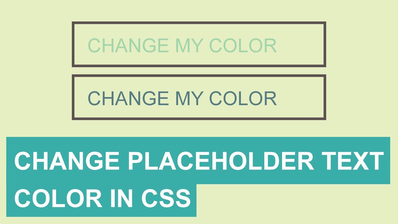 Placeholder изменить цвет