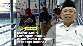 Maruf Amin minta warga tak mudik saat lebaran 2020