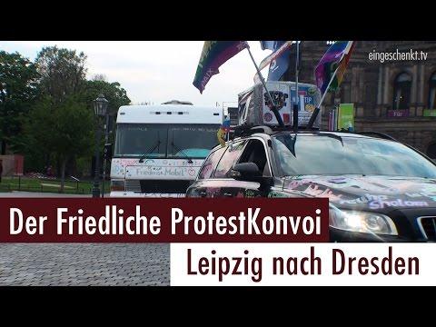 Friedlicher Protestkonvoi von Leipzig nach Dresden (29.04.2017)