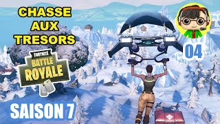 CHASSE TO SECRETS TRÉSORS in FORTNITE BATTLE ROYALE Season 7! - NOOB vs PRO