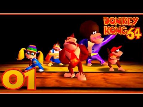 Donkey Kong 64 [N64] | Parte 1 - Karaoke Kong