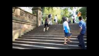 SKATING DOWN STAIRS BACKWARDS