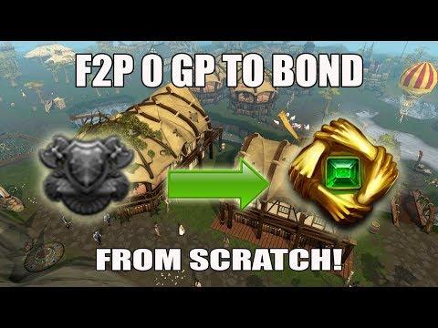 [Runescape 3] Bond From Scratch F2P Challenge! 0 GP to Bond