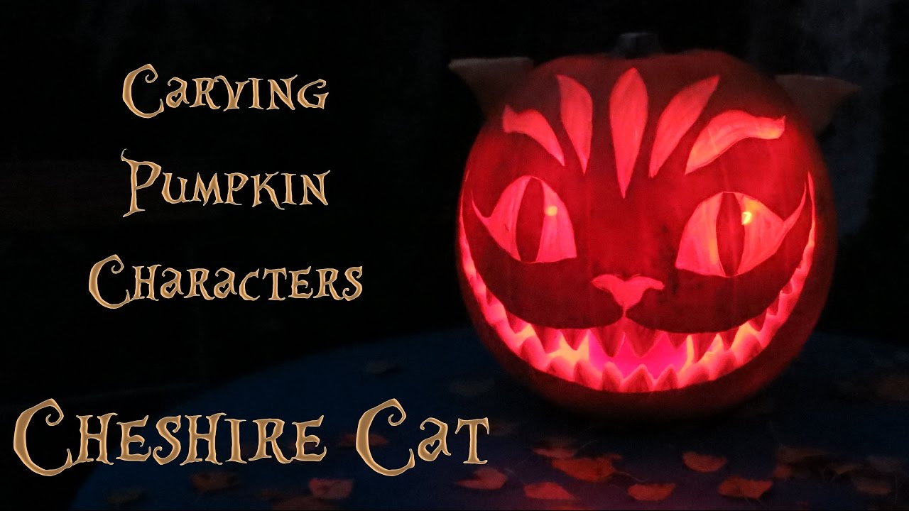 Pumpkin Carving Cheshire Cat