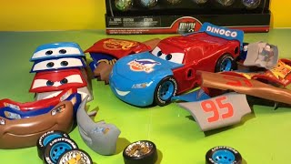 Learning numbers and colors with Disney cars 3 toys change and race fabulous lightning mcqueen