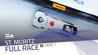 St. Moritz | BMW IBSF World Cup 2018/2019 - 2-Man Bobsleigh Heat 1 | IBSF Official