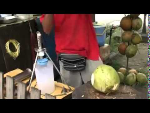Green coconut water extraction machine in South India