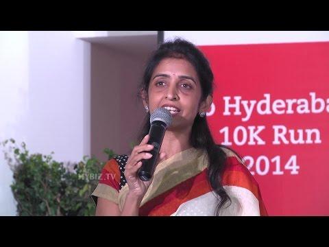 Uma Chigurupati Chairman of Hyderabad Jio 10K Run-Hybiz.tv