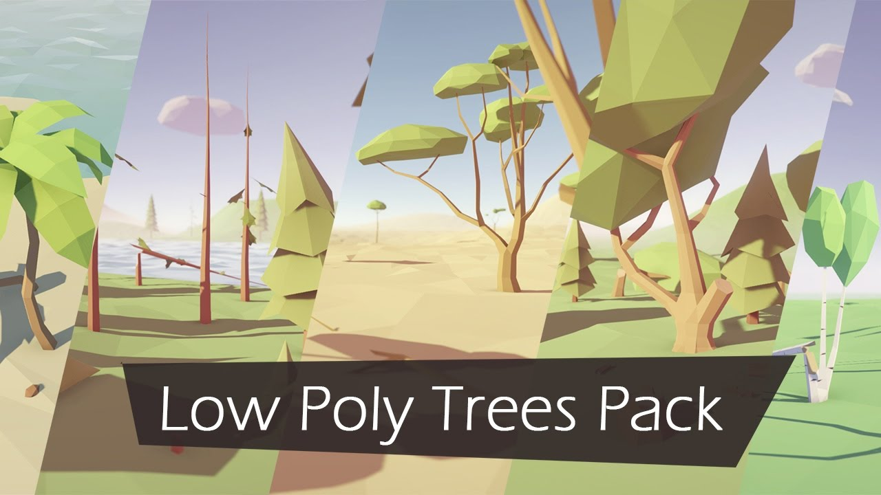 Low Poly Trees Pack - Now Available on Unity Asset Store!