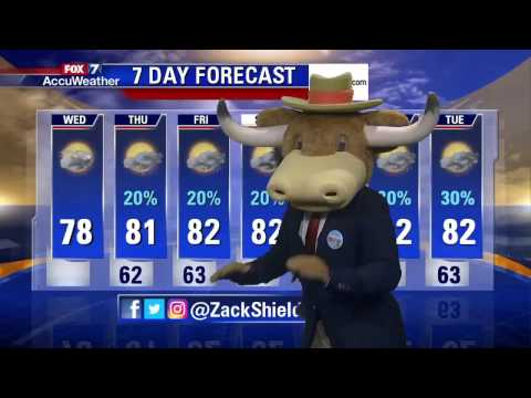 7 Day Forecast on Good Day Austin (4/12/2017)