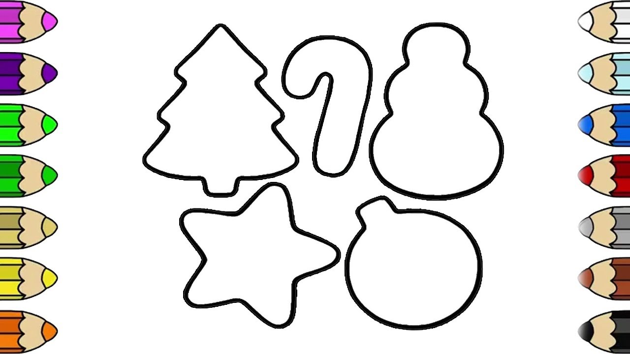 Christmas Shapes.How To Draw Shapes Christmas Shapes Coloring Pages For Kids Shapes Coloring For Children