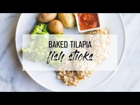 Baked Tilapia Fish Sticks