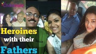 Tollywood Heroines With Their Fathers Photos