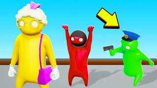 STOP The ROBBER In GANG BEASTS! (Cops VS Robbers)