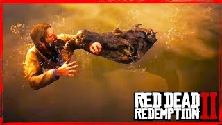 RDR2 Alligator Attack / messing with crocodiles gameplay