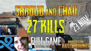 sHROUD AND CHAD - NEW TEST SERVER UPDATE *SLR*  PLAYERUNKNOWN'S BATTLEGROUNDS (4/26/18)
