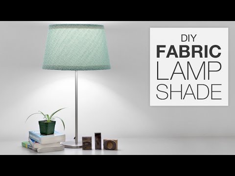 How to cover a lampshade with fabric diy tutorial youtube greentooth Choice Image