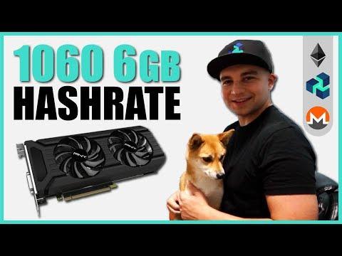 Nvidia 1060 6gb Mining Hashrate - Equihash/Ethash/Lyra2REv2/Neoscrypt/CryptonightV7