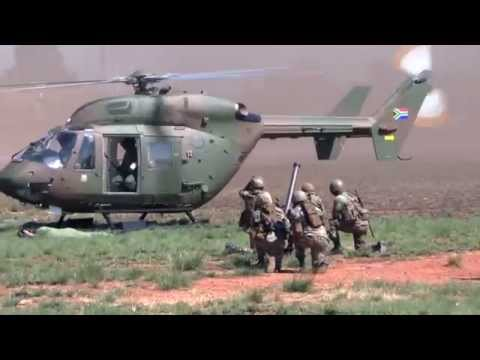 AAD 2014 South African National Defence Forces (SANDF) show off their air and land capabilities to I