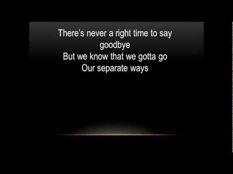 Chris Brown- Say Goodbye with lyrics