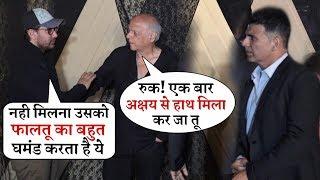 Aamir Khan ignore Akshay Kumar in front of Mahesh Bhatt | didn't Handshake Each Other