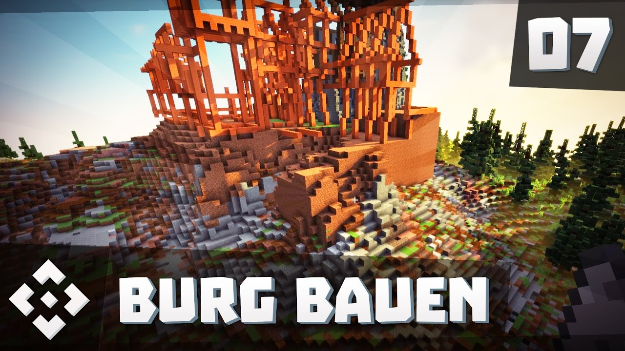 Minecraft Burg Bauen Mittelalter Tutorial Lets Build YouTube - Minecraft haus bauen grob