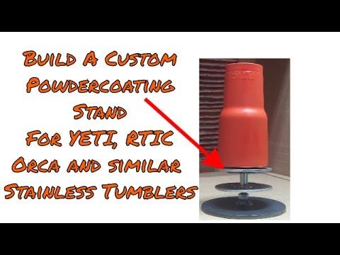YETI Tumbler Powdercoating Stand Upgrades by ManCraftingTM